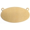 Metal Blank 24ga Brass Oval 25x12mm With Hole 9pcs